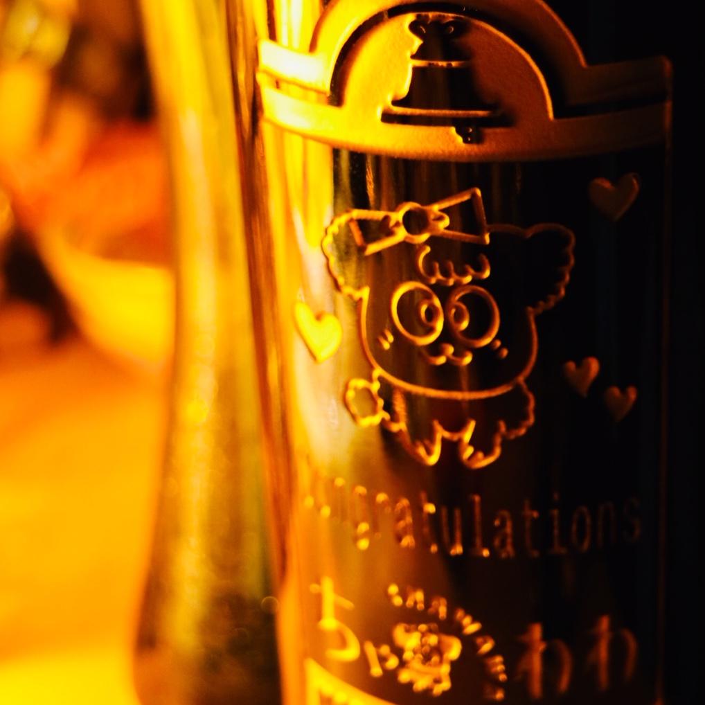 2倍・3倍に楽しみが膨らむスペシャルアイテム~ボトル彫刻♪
