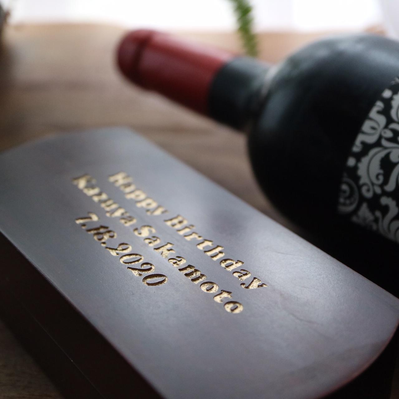 素敵な名入れ木箱入りワインオープナー♪