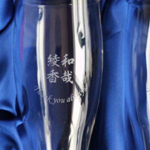 名入れビアグラスの漢字デザインができあがりました♪