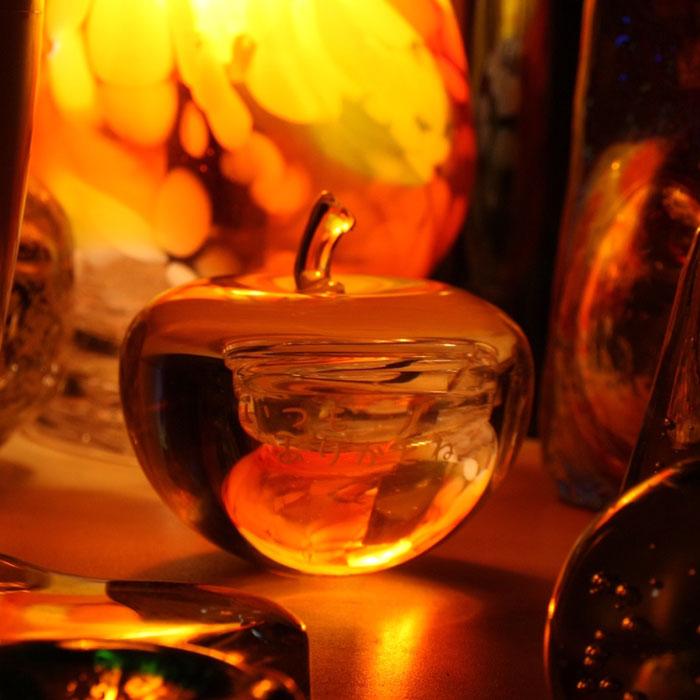 父の日に【想いを贈る】ガラスのりんご・・